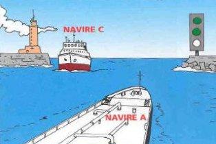 Les bateaux peuvent passer trafic a double sens a coueron,